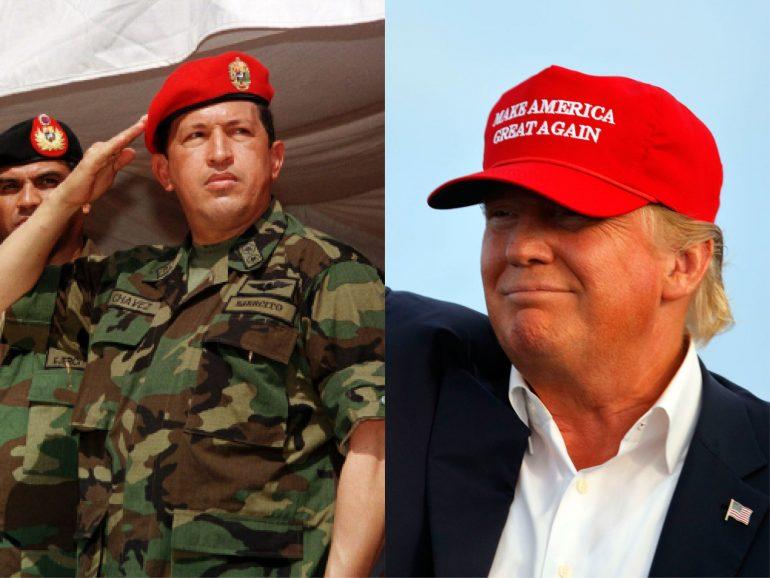 Hugo Chavez wearing a hat