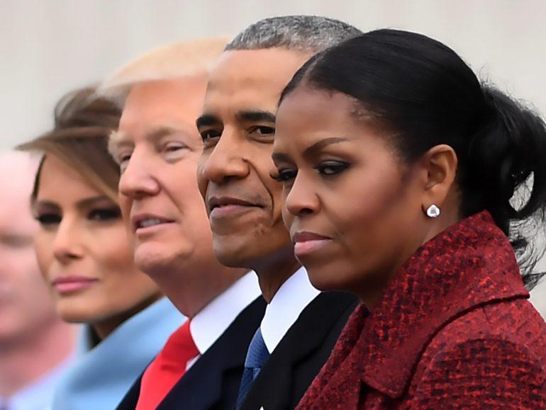 Michelle Obama et al. posing for the camera