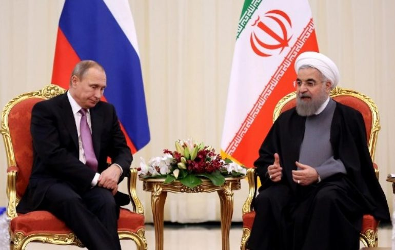 Hassan Rouhani et al. that are talking to each other