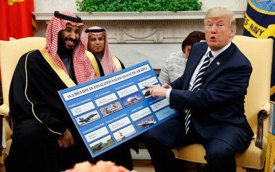 Mohammad Bin Salman Al Saud, Donald Trump that are talking to each other